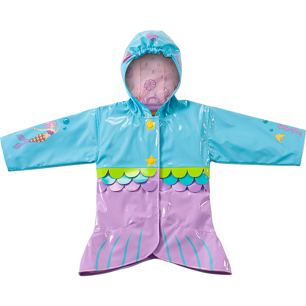 Kidorable Mermaid All-Weather Raincoat 6/6X - Aqua - Kidorable Womens Apparel - Apparel & Footwear, Women's Apparel