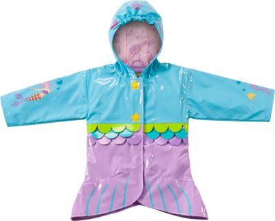 Kidorable Mermaid All-Weather Raincoat 12-18M - Aqua - Ki...