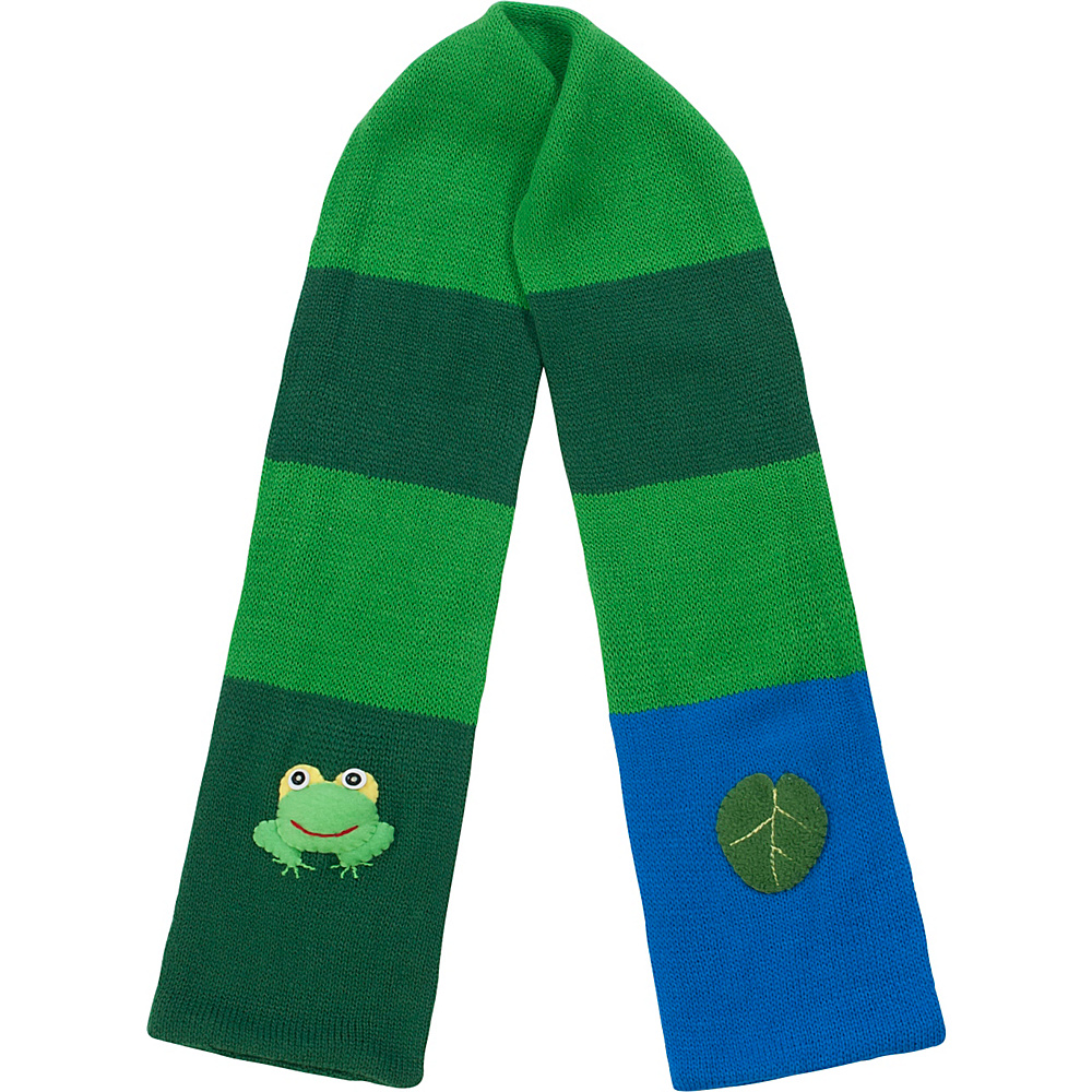 Kidorable Frog Knit Scarf Green One Size Kidorable Hats Gloves Scarves
