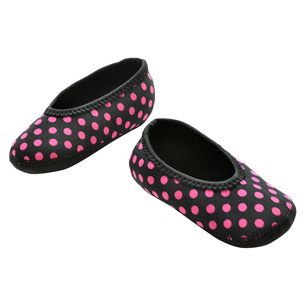 NuFoot Girls Ballet Flat Travel Slippers Black Pink Polka Dot 0 6 months NuFoot Women s Footwear