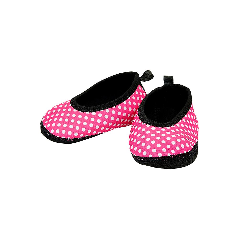 NuFoot Girls Ballet Flat Travel Slippers Pink White Polka Dot 6 12 months NuFoot Women s Footwear