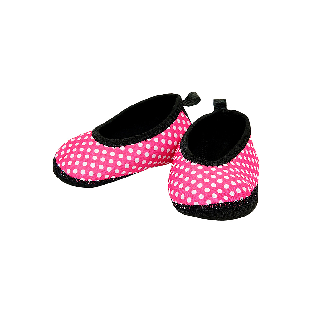 NuFoot Girls Ballet Flat Travel Slippers Pink White Polka Dot Toddler NuFoot Women s Footwear