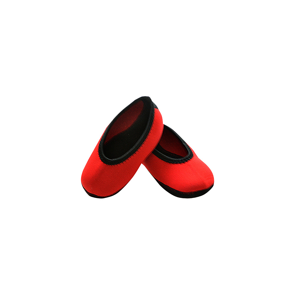 NuFoot Girls Ballet Flat Travel Slippers Red Toddler NuFoot Women s Footwear