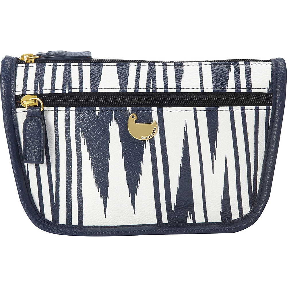 Buxton Chevron Travel Collection Cosmetic Case Navy - Buxton Womens SLG Other - Women's SLG, Women's SLG Other