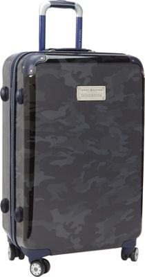 Tommy Hilfiger Luggage East Coast Camo 24 Hardside Upright Spinner Black Camo - Tommy Hilfiger Luggage Hardside Checked