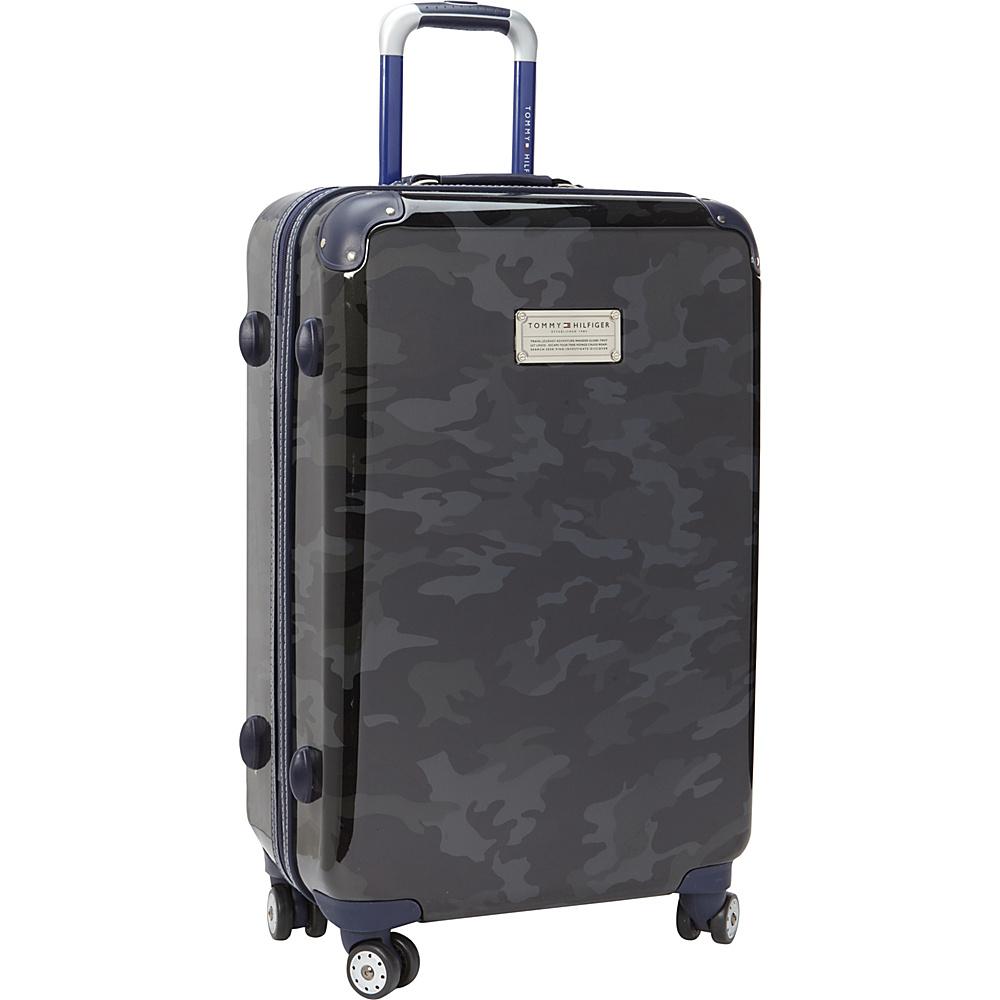 Tommy Hilfiger Luggage East Coast Camo 24 Hardside Upright Spinner Black Camo Tommy Hilfiger Luggage Hardside Checked