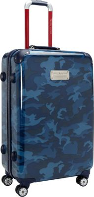 Tommy Hilfiger Luggage East Coast Camo 24 Hardside Upright Spinner Navy Camo - Tommy Hilfiger Luggage Hardside Checked