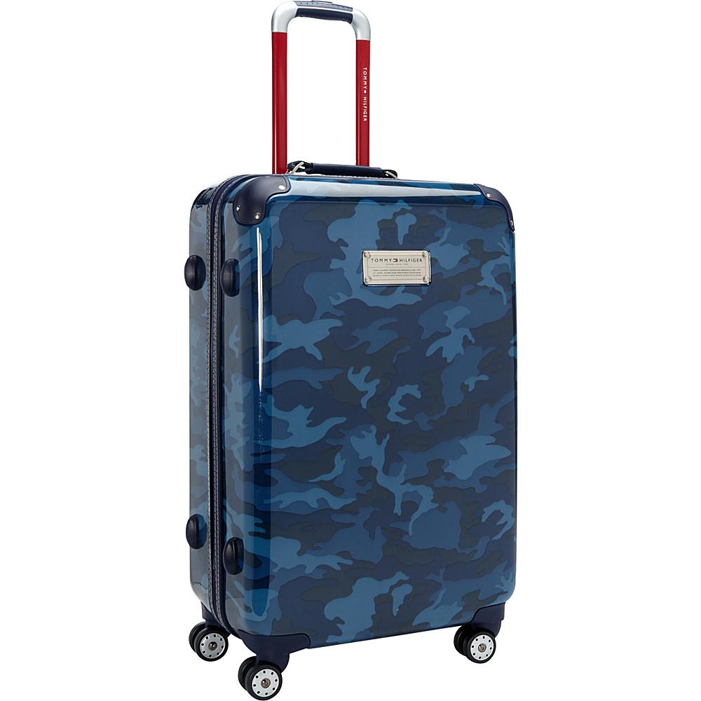 Tommy Hilfiger Luggage East Coast Camo 24 Hardside Upright Spinner Navy Camo Tommy Hilfiger Luggage Hardside Checked