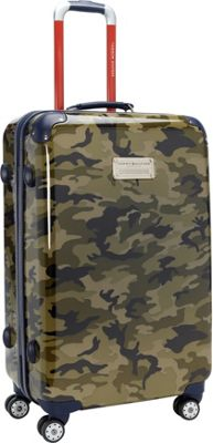 Tommy Hilfiger Luggage East Coast Camo 24 Hardside Upright Spinner Olive Camo - Tommy Hilfiger Luggage Hardside Checked