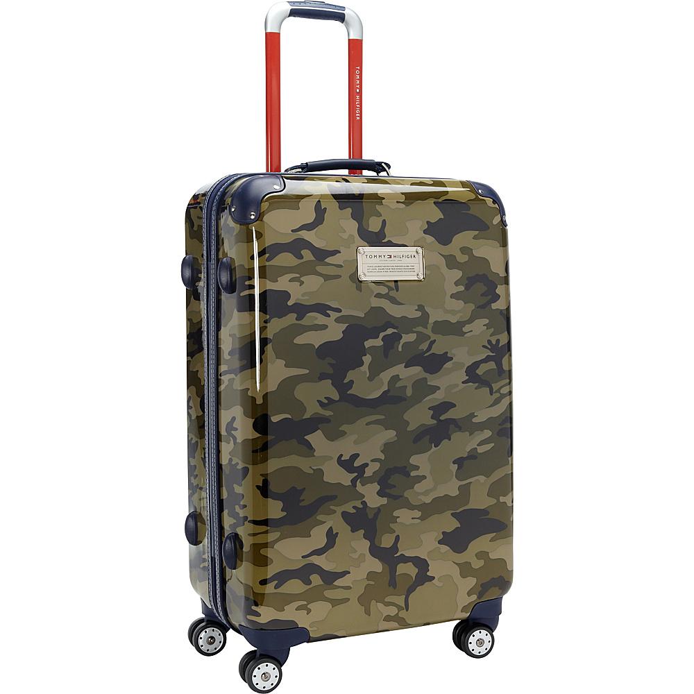 Tommy Hilfiger Luggage East Coast Camo 24 Hardside Upright Spinner Olive Camo Tommy Hilfiger Luggage Hardside Checked