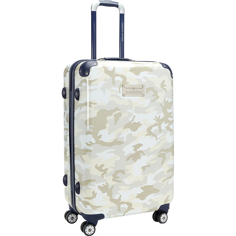 Tommy Hilfiger Luggage East Coast Camo 24 Hardside Upright Spinner White Camo Tommy Hilfiger Luggage Hardside Checked