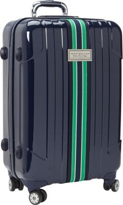 Tommy Hilfiger Luggage Santa Monica 25 inch Exp. Upright Spinner Navy - Tommy Hilfiger Luggage Softside Checked