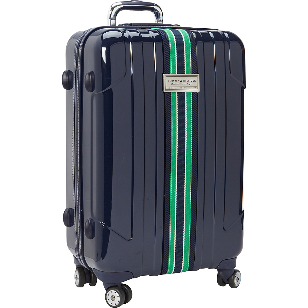 Tommy Hilfiger Luggage Santa Monica 25 Exp. Upright Spinner Navy Tommy Hilfiger Luggage Softside Checked