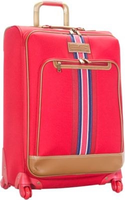 Tommy Hilfiger Luggage Santa Monica 25 inch Exp. Upright Spinner Red - Tommy Hilfiger Luggage Softside Checked