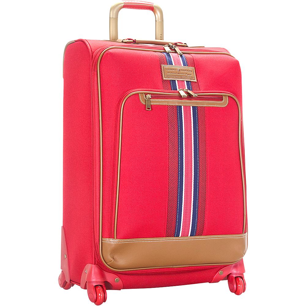 Tommy Hilfiger Luggage Santa Monica 25 Exp. Upright Spinner Red Tommy Hilfiger Luggage Softside Checked