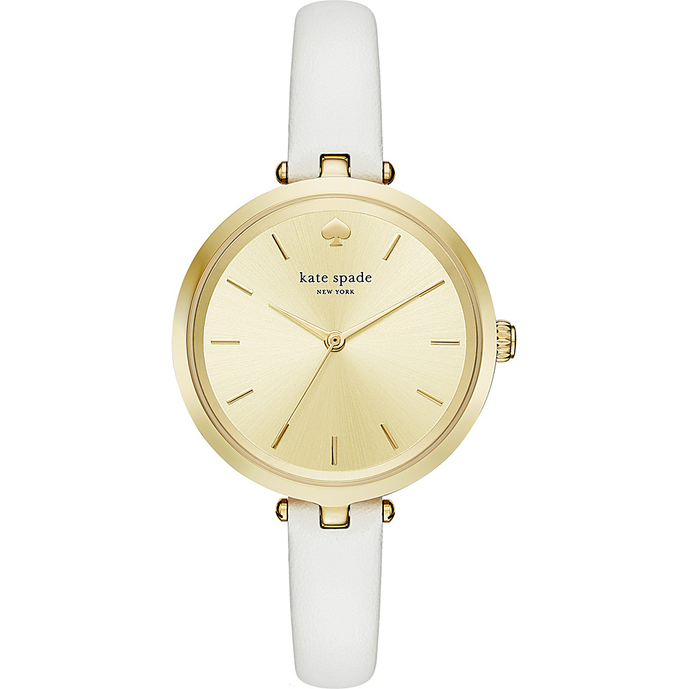 kate spade watches Leather And Stainless Steel Holland Watch White kate spade watches Watches