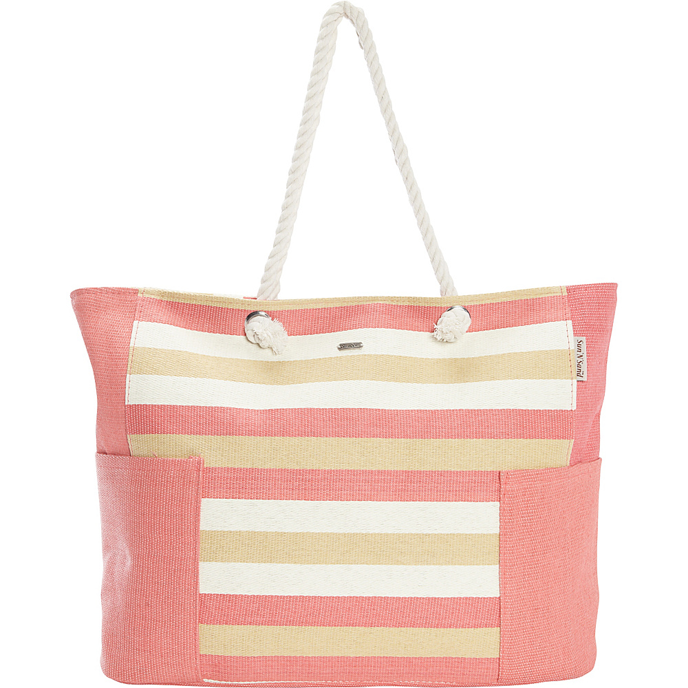 Sun N Sand Canary Tote Coral - Sun N Sand Gym Bags - Sports, Gym Bags