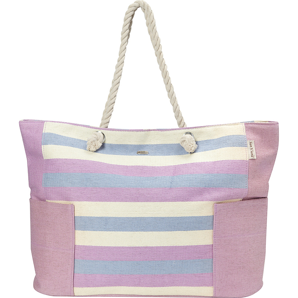 Sun N Sand Canary Tote Lilac - Sun N Sand Gym Bags - Sports, Gym Bags