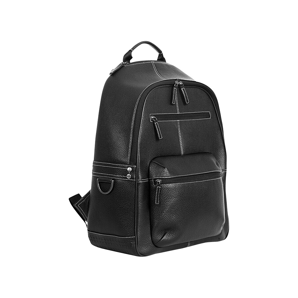Boconi Tyler Tumbled Campus Pack Black with Khaki Boconi Business Laptop Backpacks