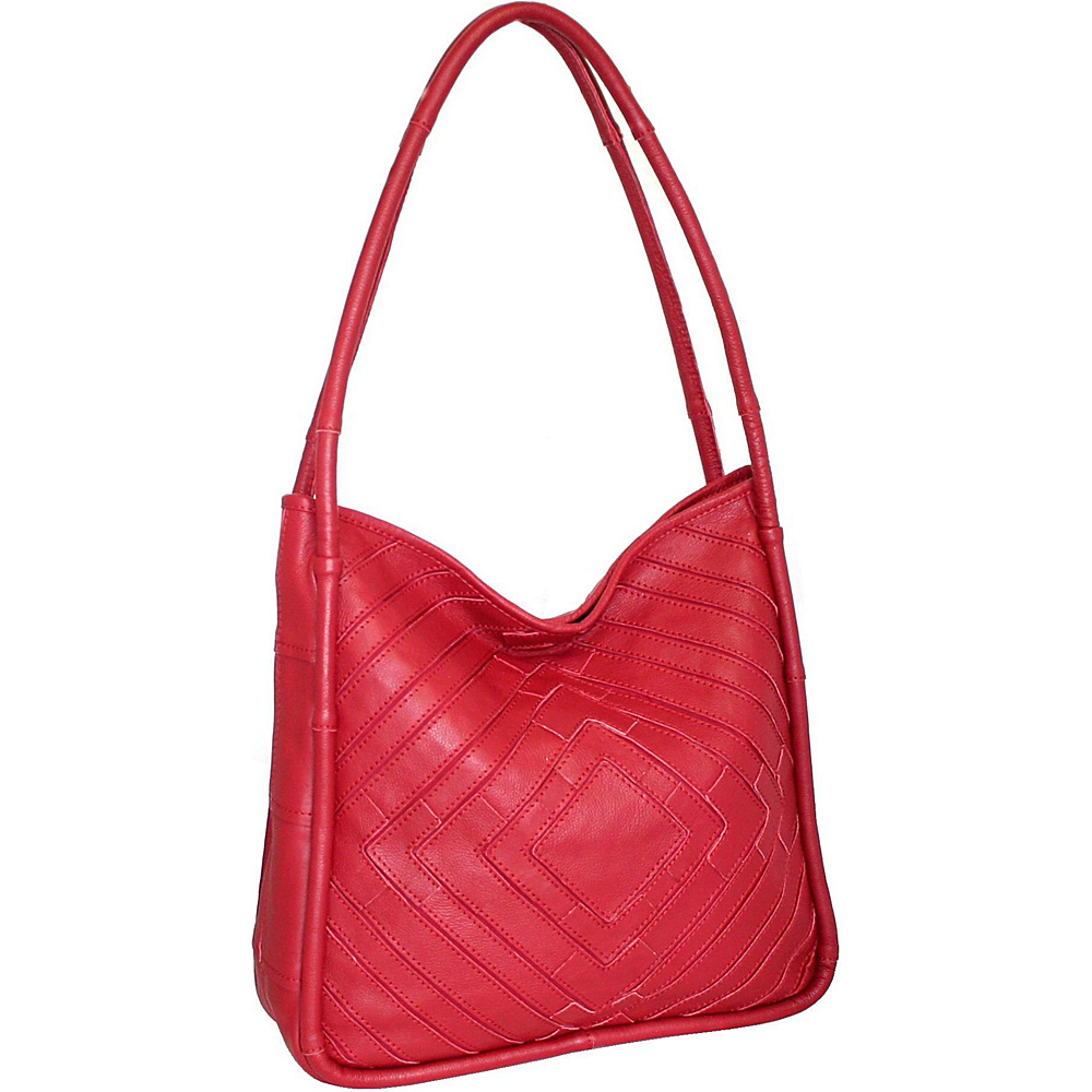 Nino Bossi Mama Mia Shoulder Bag Red - Nino Bossi Leather Handbags - Handbags, Leather Handbags