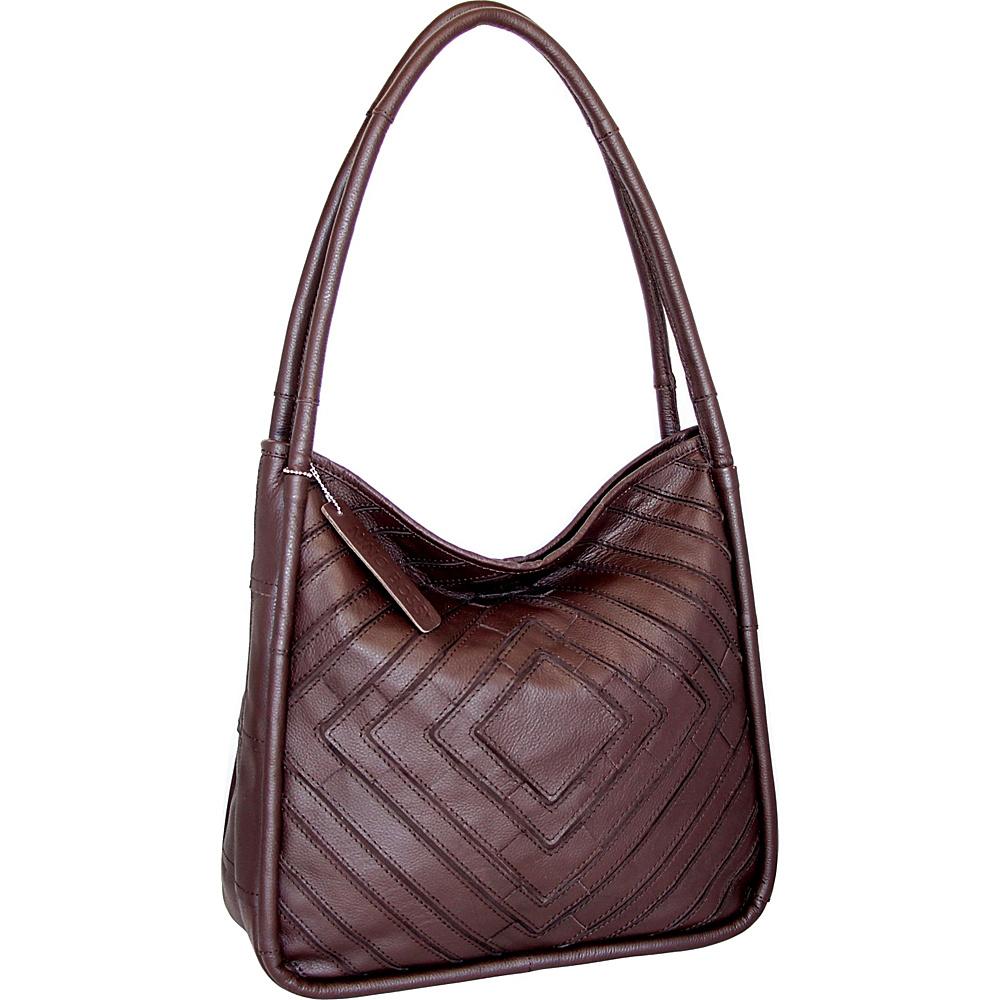 Nino Bossi Mama Mia Shoulder Bag Chocolate - Nino Bossi Leather Handbags - Handbags, Leather Handbags