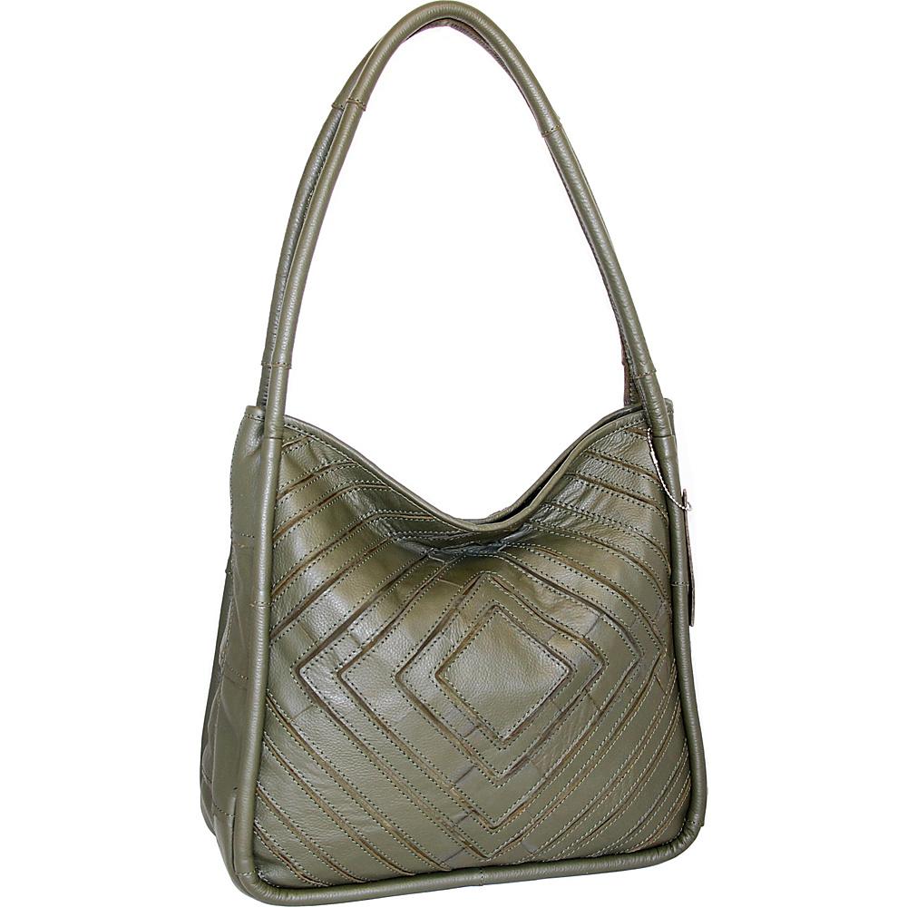 Nino Bossi Mama Mia Shoulder Bag Green - Nino Bossi Leather Handbags - Handbags, Leather Handbags
