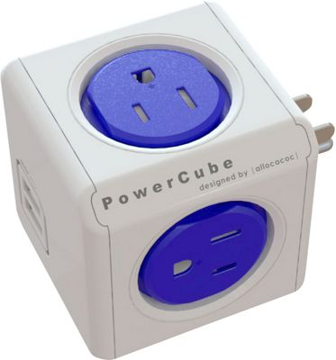 PowerCube Original USB Cable And Adapter Cobalt Blue - PowerCube Electronic Accessories