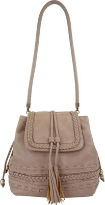 nu G Oversized Bucket Bag With Braided Details Taupe - nu G Manmade Handbags