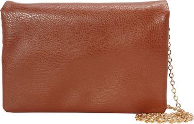 nu G Mini Cross Body With Chain Strap Cognac - nu G Manmade Handbags