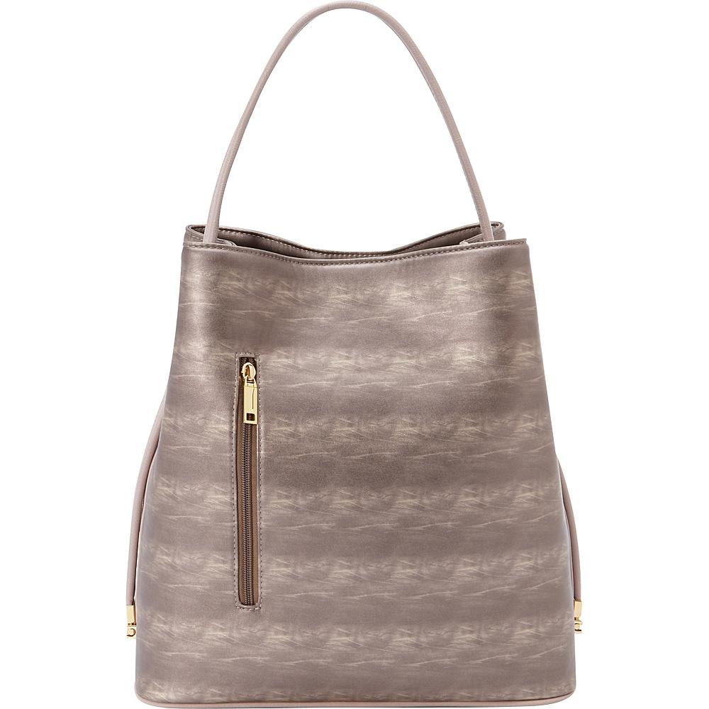 Samoe Shopper Convertible Handbag Tea Rose Sunset Tea Rose Handle SH Samoe Manmade Handbags