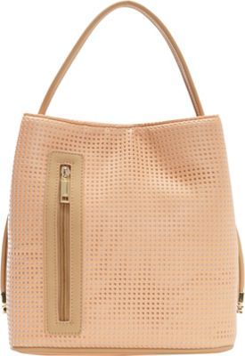 Samoe Samoe Classic Convertible Handbag Sweet Melon Perforated/ Bisque CL - Samoe Manmade Handbags
