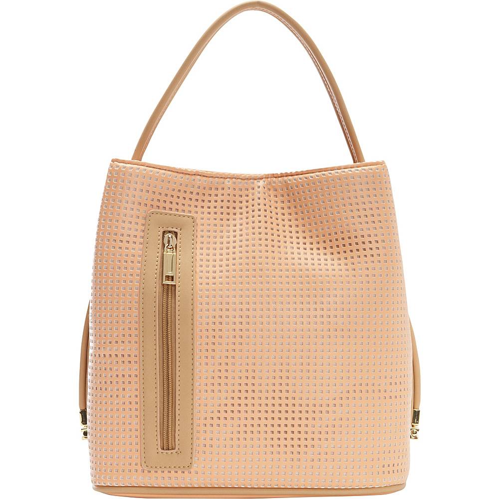 Samoe Classic Convertible Handbag Sweet Melon Perforated Bisque CL Samoe Manmade Handbags