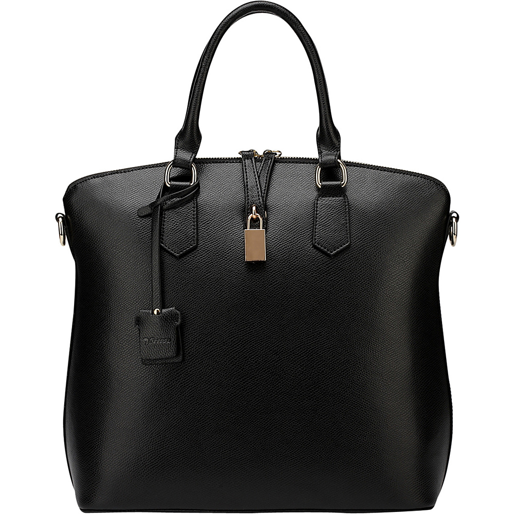 Vicenzo Leather Delicia Leather Top Handle Black Vicenzo Leather Leather Handbags