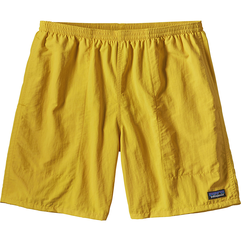 Patagonia Mens Baggies Long Shorts - 7 in 2XL - 7in - Chromatic Yellow - Patagonia Mens Apparel - Apparel & Footwear, Men's Apparel