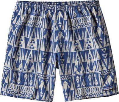 Image of Patagonia Mens Baggies Long Shorts - 7 in XL - 7in - Tribal Geo: Superior Blue - Patagonia Men's Apparel