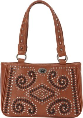 Montana West Bling Bling Collection Tote Brown - Montana West Manmade Handbags