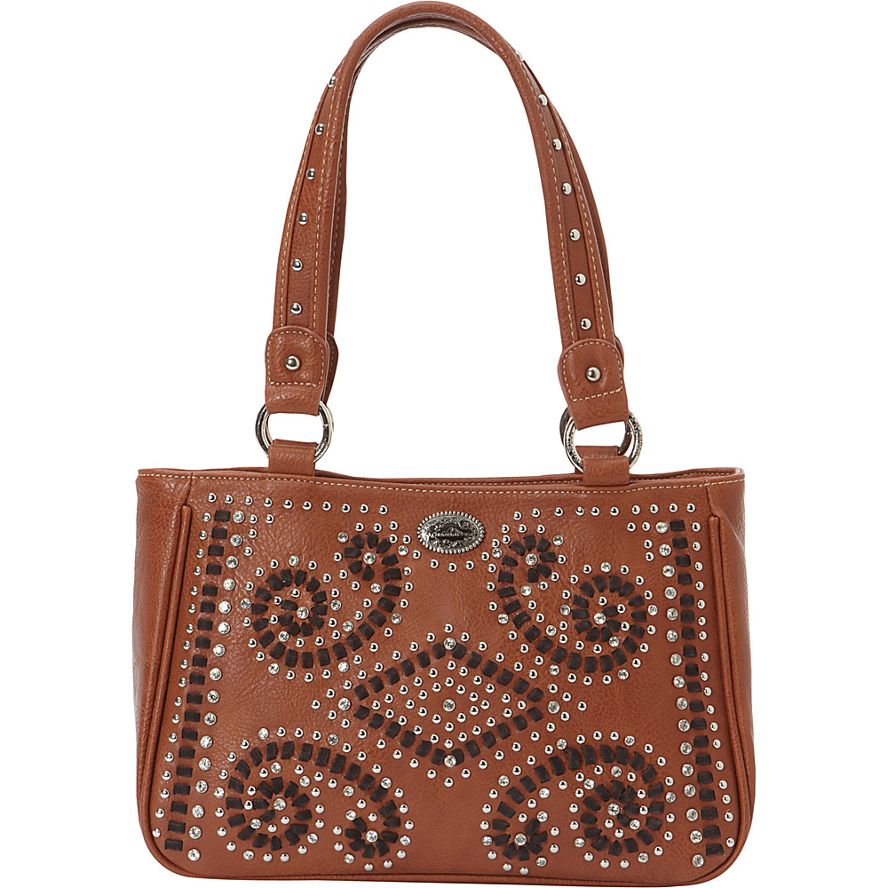 Montana West Bling Bling Collection Tote Brown Montana West Manmade Handbags