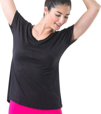 Electric Yoga Deep V Tee S - Black - Electric Yoga Women's Apparel