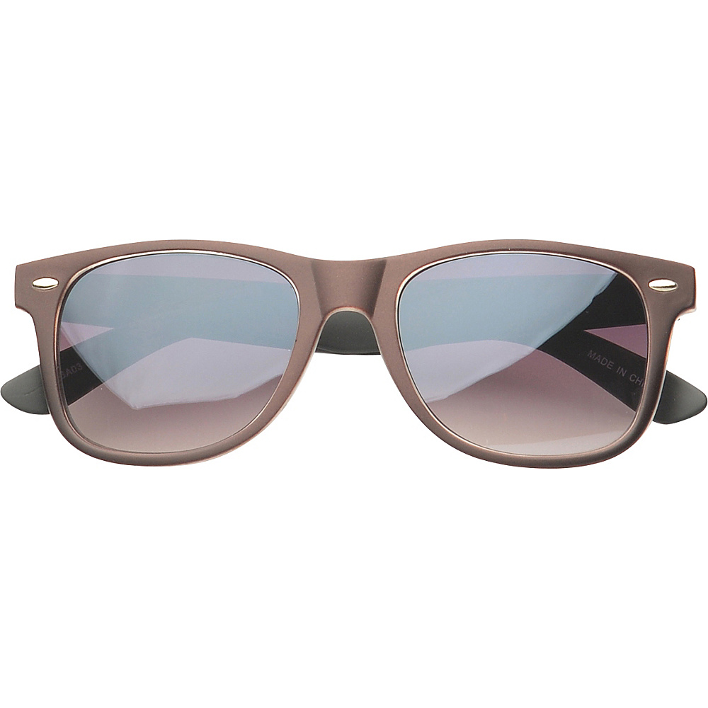 SW Global Eyewear Barton Retro Square Fashion Sunglasses Brown SW Global Sunglasses