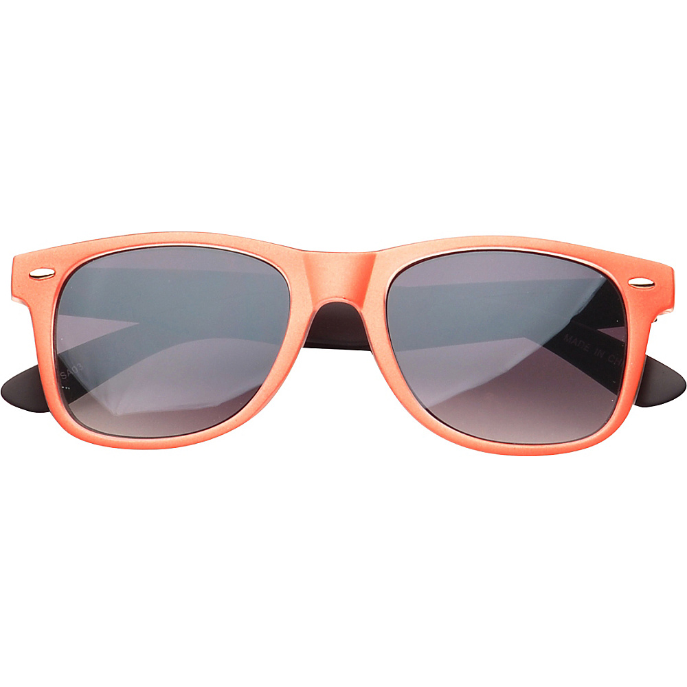 SW Global Eyewear Barton Retro Square Fashion Sunglasses Orange - SW Global Sunglasses - Fashion Accessories, Sunglasses