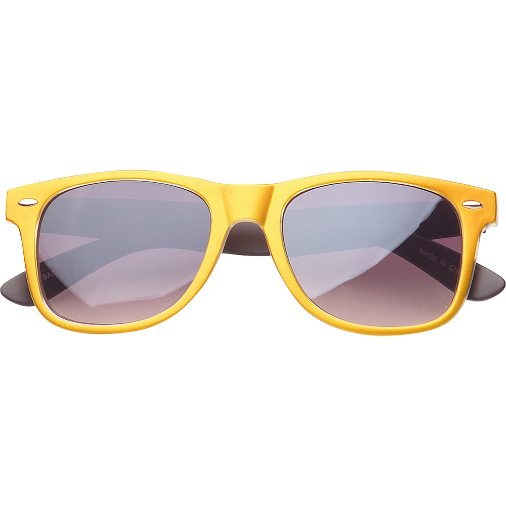 SW Global Eyewear Barton Retro Square Fashion Sunglasses Gold - SW Global Sunglasses - Fashion Accessories, Sunglasses