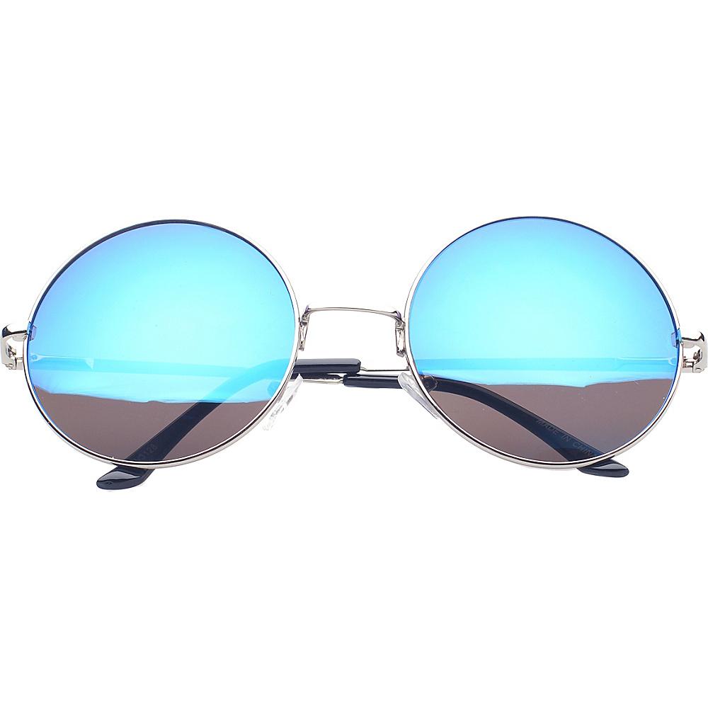 SW Global Eyewear Addison Round Fashion Sunglasses Blue SW Global Sunglasses