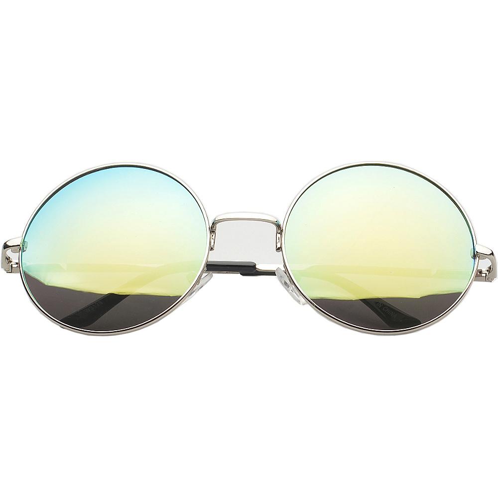 SW Global Eyewear Addison Round Fashion Sunglasses Green SW Global Sunglasses