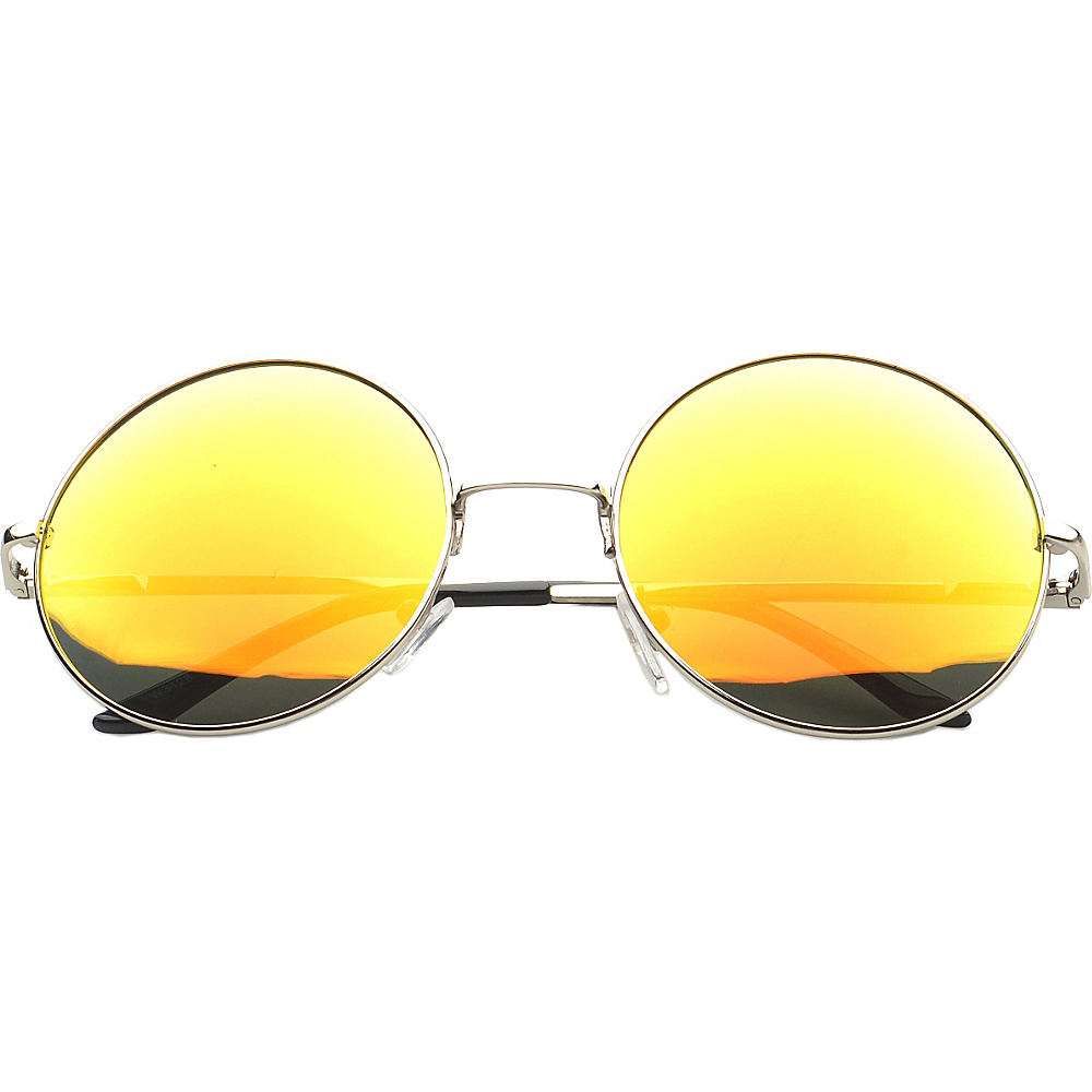 SW Global Eyewear Addison Round Fashion Sunglasses Orange - SW Global Sunglasses - Fashion Accessories, Sunglasses