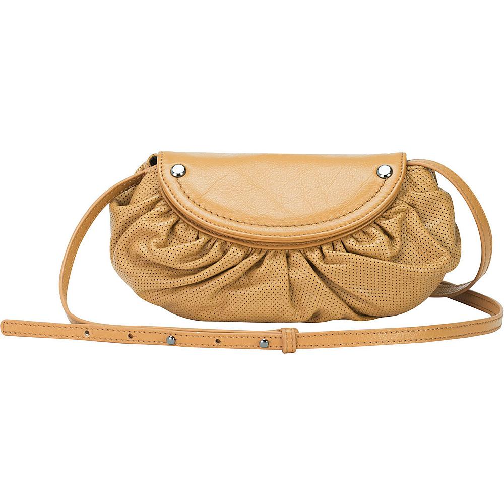MOFE Bijou Crossbody Tan Gunmetal Hardware MOFE Leather Handbags