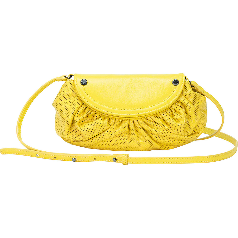MOFE Bijou Crossbody Yellow Gunmetal Hardware MOFE Leather Handbags