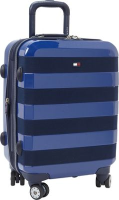 Tommy Hilfiger Luggage Rugby Stripe 21 Carry-On Hardside Spinner Royal - Tommy Hilfiger Luggage Hardside Carry-On