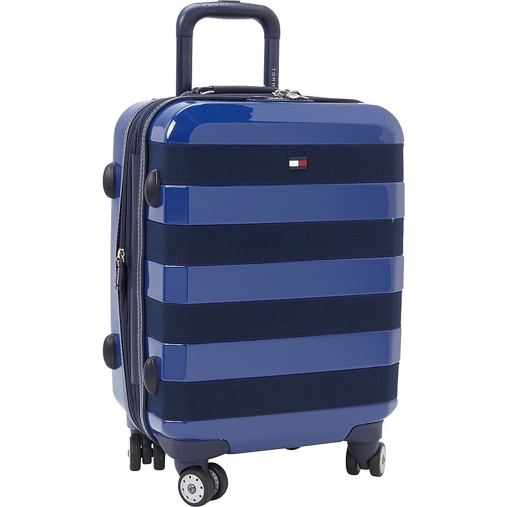 Tommy Hilfiger Luggage Rugby Stripe 21 Carry On Hardside Spinner Royal Tommy Hilfiger Luggage Hardside Carry On