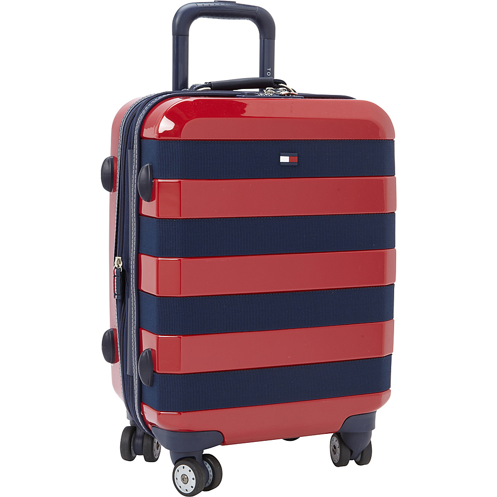 Tommy Hilfiger Luggage Rugby Stripe 21 Carry On Hardside Spinner Red Tommy Hilfiger Luggage Hardside Carry On