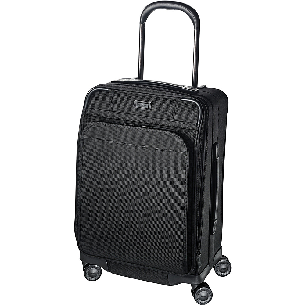Hartmann Luggage Ratio Domestic Expandable Glider True Black Hartmann Luggage Softside Carry On